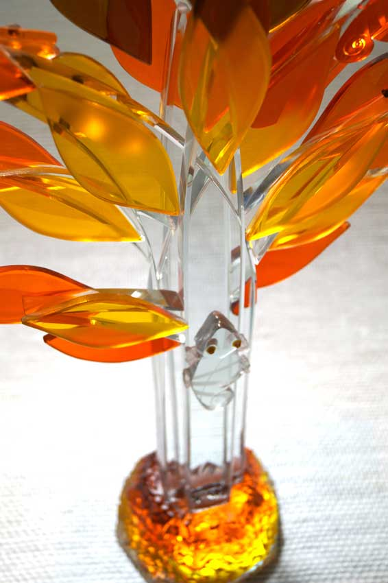 """Accueil : portfolio la nature, arborescence, ensemble sculpté et gravé au jet de sable, pièce unique assemblage verre,verre St Just intitulée """"biomimétisme"""""""