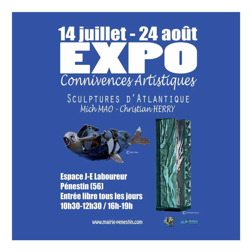 article presse : plaquette d'exposition Connivences artistiques - Sculptures d'Atlantique