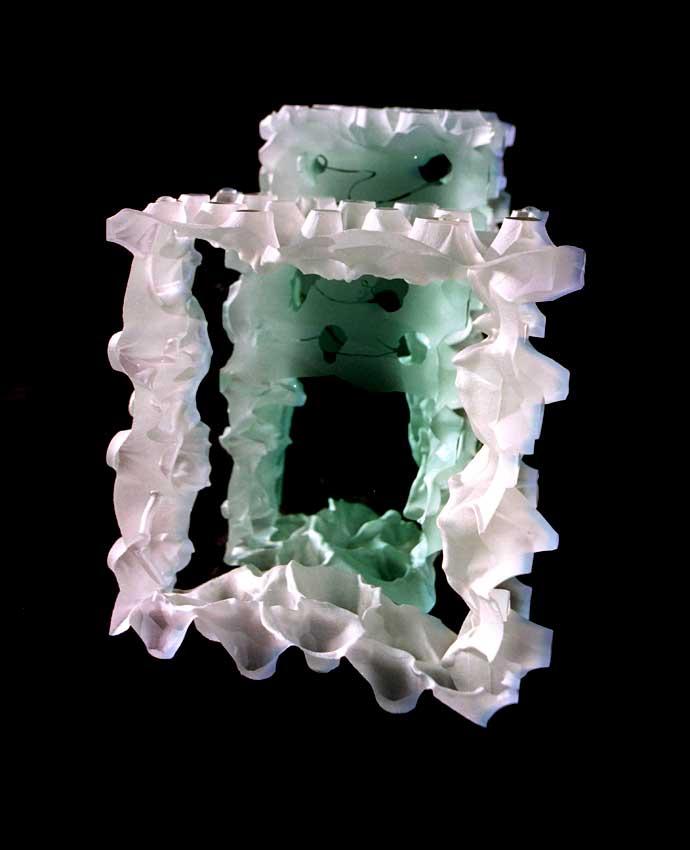 Accueil : portfolio l'absraction, abstraction blocs verre gravés en profondeur,pièces uniques