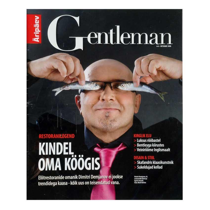 gentleman 2008 article presse : publication magazine décoration intérieure Estonien