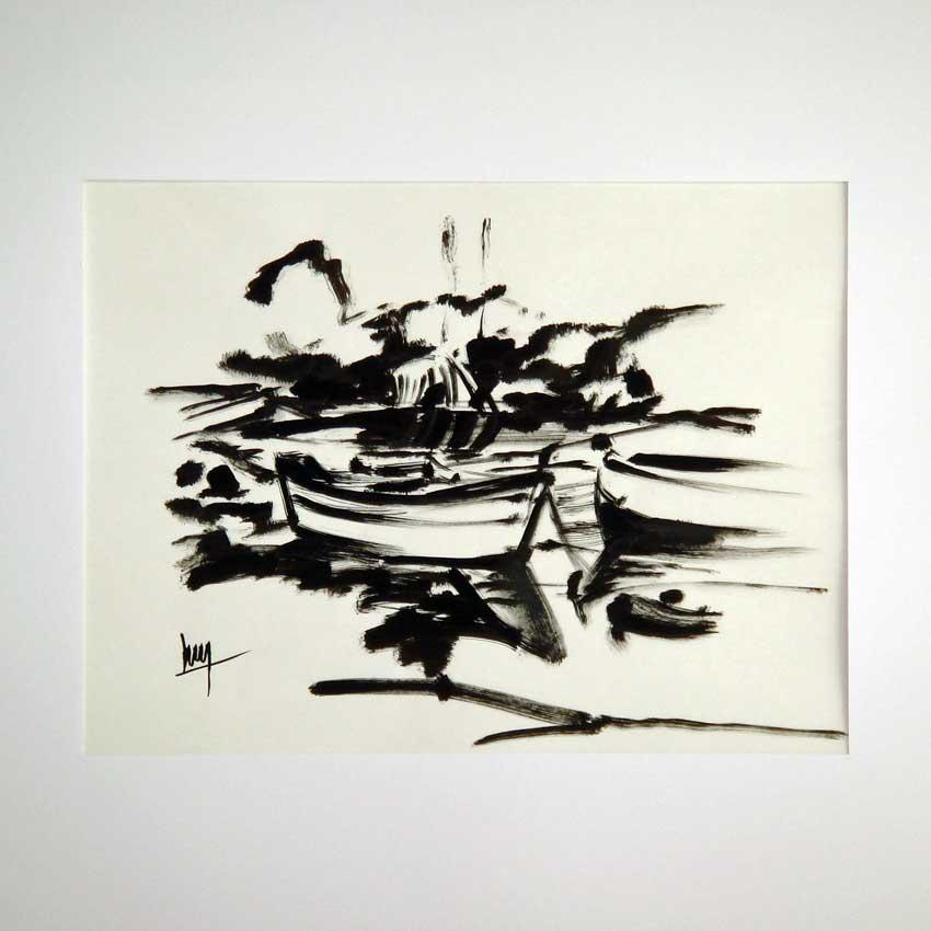 Accueil : portfolio dessin,marines ,Le Cabellou Concarneau Finistère France ,encre de chine sur papier