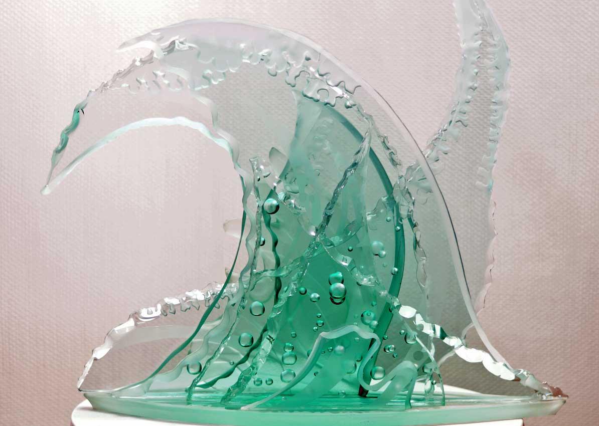 Accueil : portfolio la nature, vagues sculptées au jet de sable
