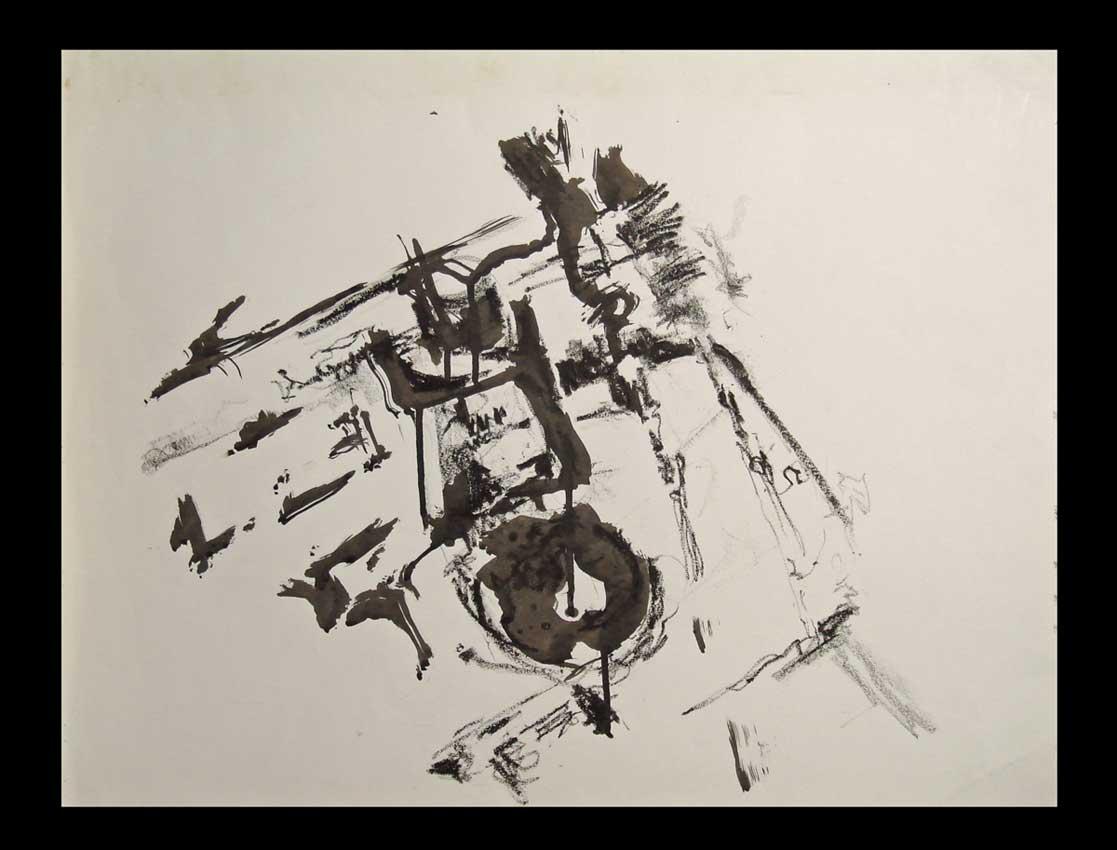 Accueil : portfolio dessin,abstrait,écriture automatique ,lavis d'encre de chine et fusain sur papier
