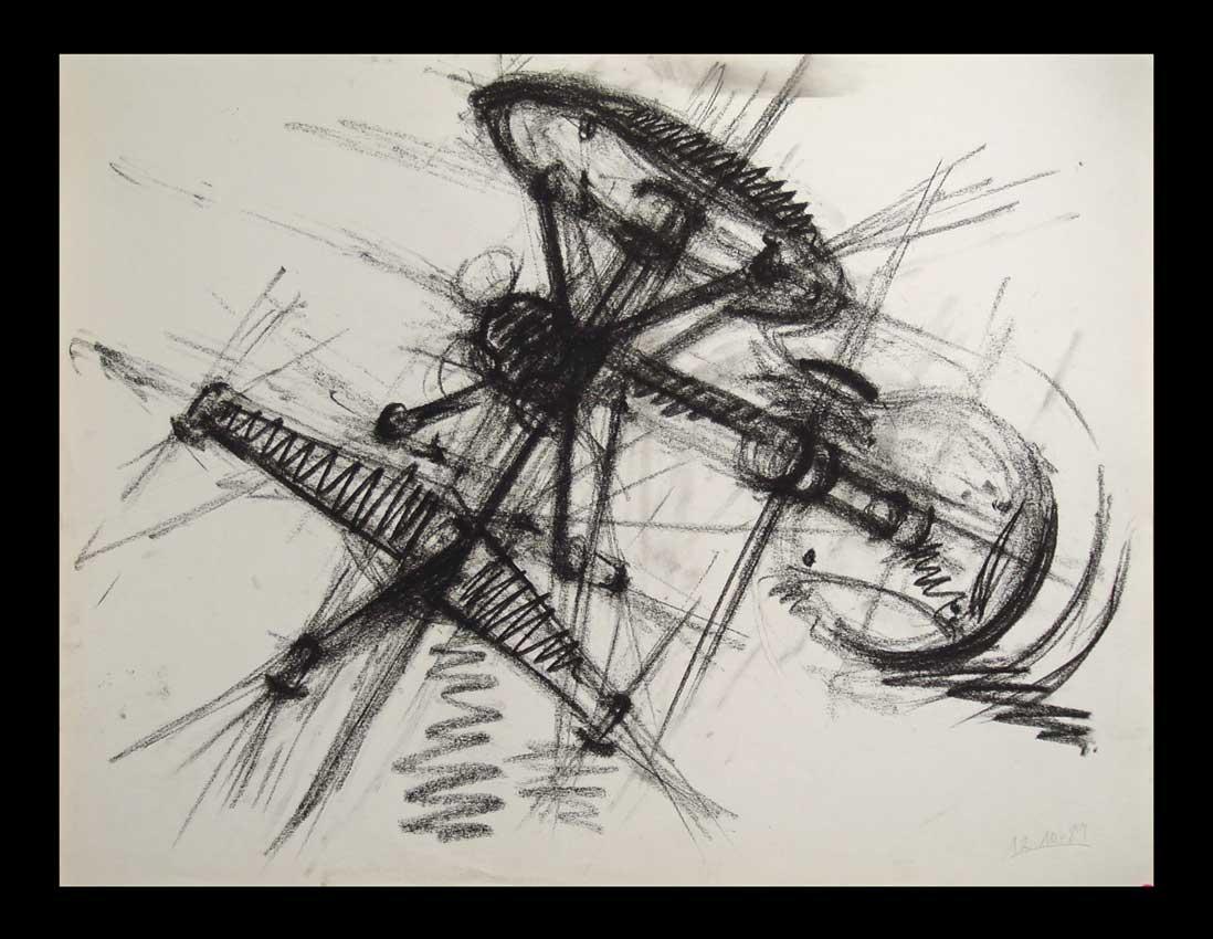 Accueil : portfolio dessin,abstrait,sans titre fusain sur papier