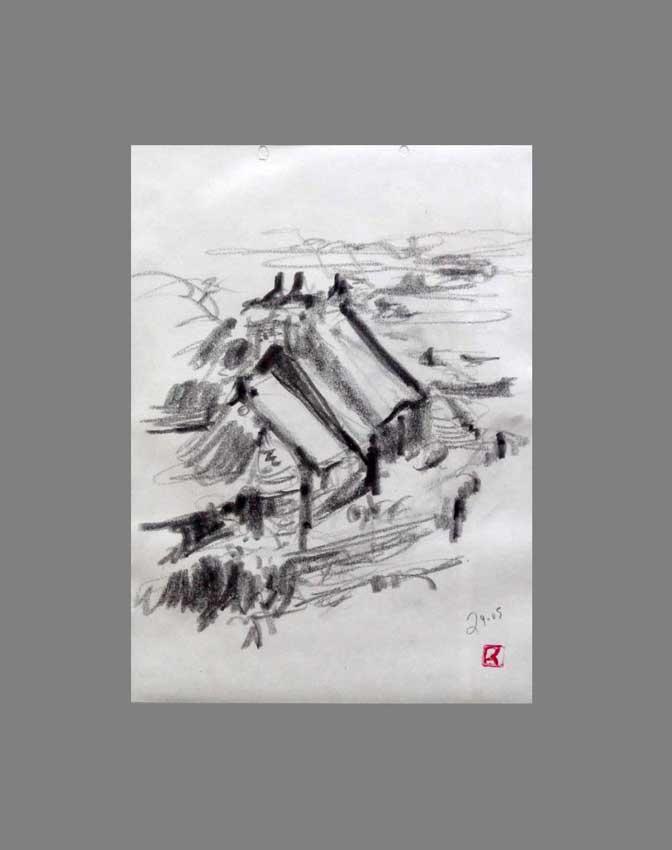 Accueil : portfolio dessin,carnet de voyage, sketching book,Ile de Bréhat Cotes d'Armor France ,mine de plomb sur papier