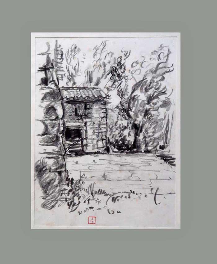 Accueil : portfolio dessin,carnet de voyage, sketching book,Sao Francisco Miño Douro Portugal ,mine de plomb sur papier