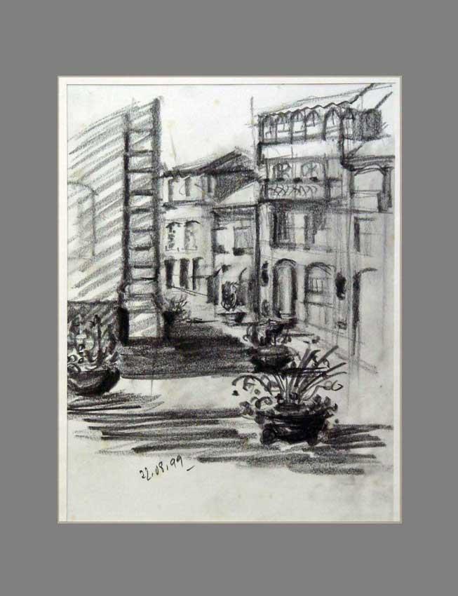 Accueil : portfolio dessin,carnet de voyage, sketching book,Chavez Miño Douro Portugal ,mine de plomb sur papier