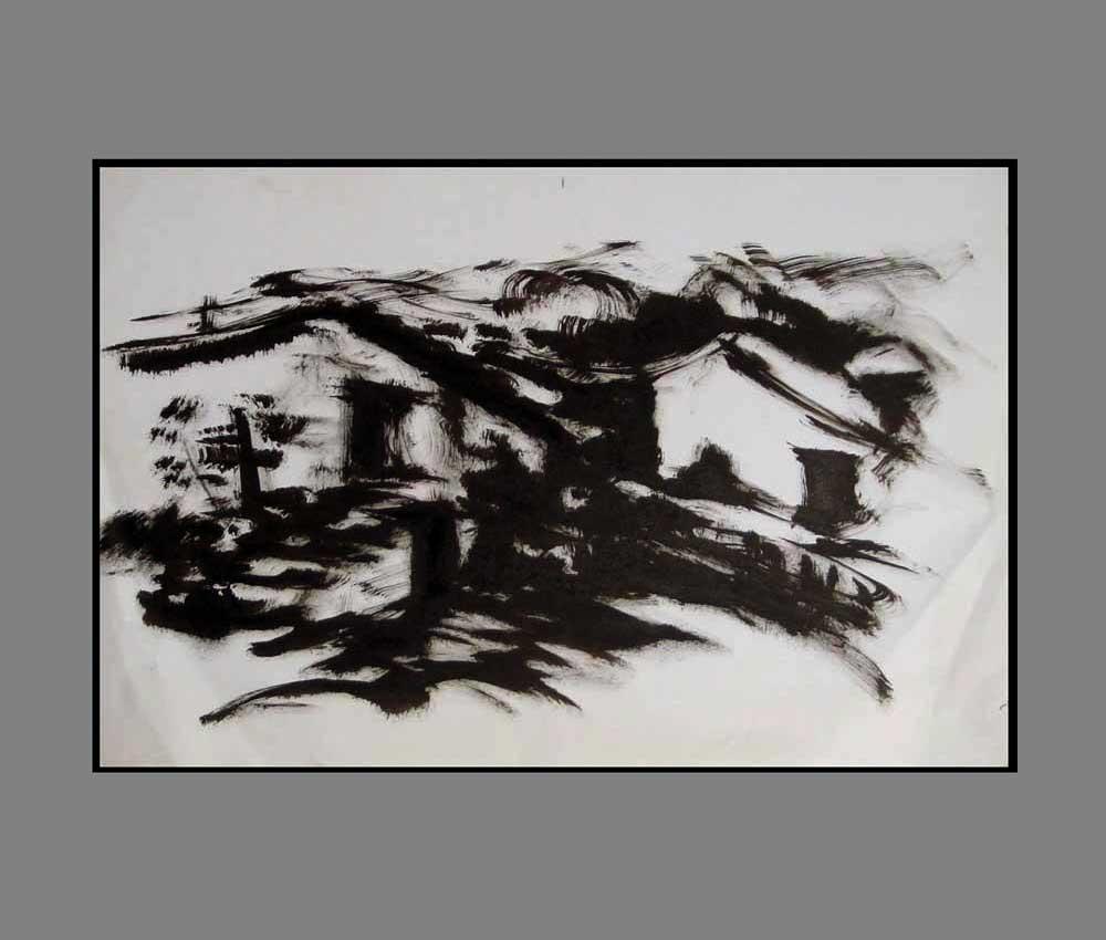 Accueil : portfolio dessin,carnets de voyages sketching book,Rodellar Aragon España ,encre de chine sur papier