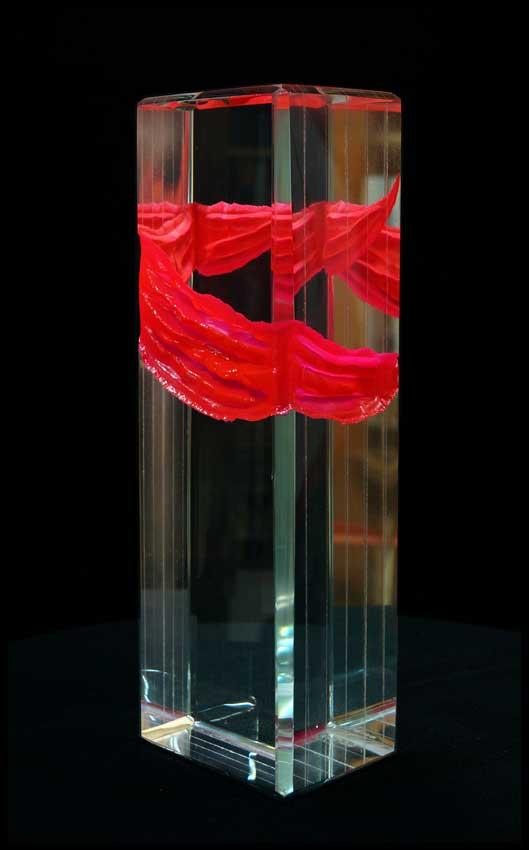 Accueil : portfolio l'absraction: griffé,monolithe verre diamant poli,gravé,laqué,pièce unique
