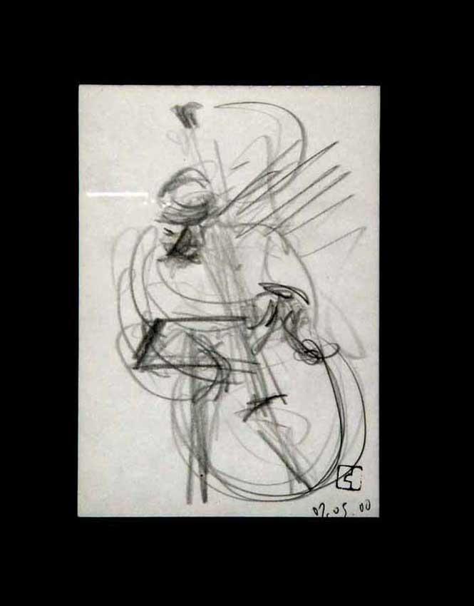 Accueil : portfolio dessin,jazz, sketching jazz ,croquis de concert Kenny Garrett 2000 ,mine de plomb sur bloc sténo