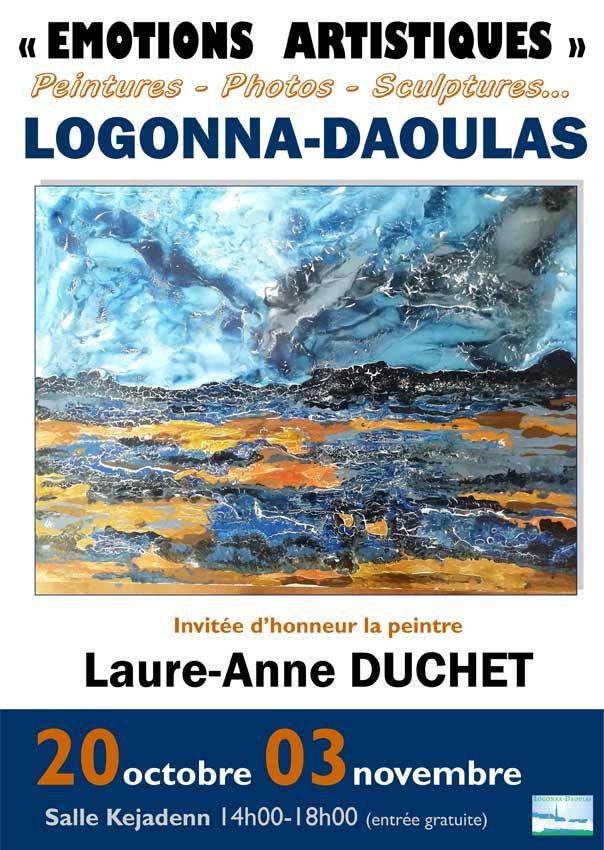 affiche salon Emotions artistiques Logonna Daoulas 2020